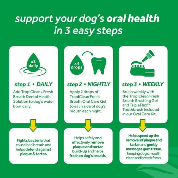 Fresh Breath by TropiClean Brushing Dental & Oral Care Gel for Dogs & Cats, 2oz_01